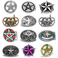 HBUM0129  PENTAGRAM ROCK 5 POINT NAUTICAL RANGER LONE GOTHIC STAR BELT BUCKLE