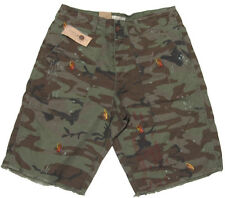 Polo Ralph Lauren Denim & and Supply Camo Mens Green Vintage Casual Slim Shorts