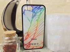 iPhone5s 5 5c 6 6+ Cracked Damaged Broken Glass Case with FREE screen protector!