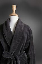 *NEW* MENS PLUSH SPA ROBE * CHARCOAL GRAY * WITH OR WITHOUT MONOGRAM *GREAT GIFT