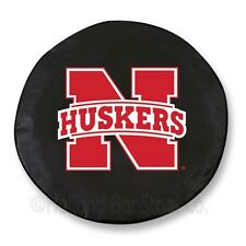 Nebraska Cornhuskers NCAA Exact Fit Black Vinyl Spare Tire Cover by HBS Covers