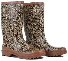 Leopard Design Gumboots Wellies Ladies Womens Rain boots Size 9/40 10/41 *New*