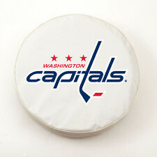 Washington Capitals NHL Exact Fit White Vinyl Spare Tire Cover by HBS Covers