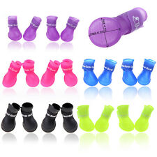 Dog Boots Waterproof Protective Rubber Pet Rain Shoes Booties Candy Colors New