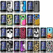 Color Design Snap-On Rubberized Hard Case For Nokia Lumia 620 (AIO Wireless)