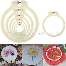 Plastic Cross Stitch Machine Embroidery Hoop Ring Loop Sewing 9/12/15/18/21/25cm