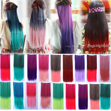 25*60cm Colorful Cosplay Long Straight Hairpiece 5Clip-in Hair Extensions BAP27