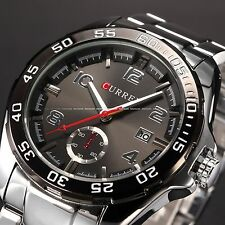 Fashion Men's Stainless Steel Date Sport Luxury Style Quartz Wrist Watch