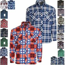 MENS LUMBER JACK CHECK CASUAL SMART COTTON WORK FLANNEL SHIRT LONG SLEEVE M-5XL