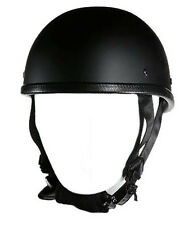 Eagle Novelty Flat Black Motorcycle Helmet Cruiser Chopper Biker S,M,L,XL,XXL