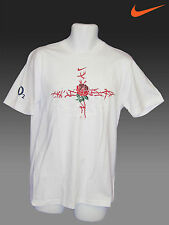 NEW Nike ENGLAND RUGBY Cotton Tee Shirts White M - XL