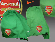 New NIKE ARSENAL Football Shorts Player Issue Goalkeeper Green S-L