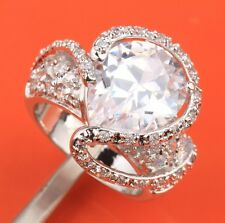 FANCY! Topaz & Zircon Gemstones Silver Rings US#Size5 6 7 8 9 B6294