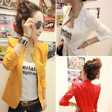 New Women Lady Metal Collar Shrug Slim Fitted Suit Blazer Jacket Coat Outerwear
