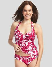 Figleaves Swimwear Tobago Halter Tankini Top Underwired Red Various Sizes BNWT