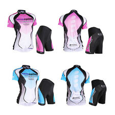 Outdoor Women Bicycle Cycling Clothing Wear Jersey Shorts 3D GEL Pad Bike Sets