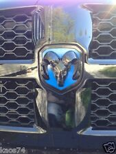 Dodge RAM 1500 Grill & Tailgate Emblem Overlay Decals 2013 2014 ONLY