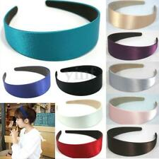 Retro 4cm Wide Plastic Satin Headband Hairwear Hairband Alice Band Boho 7 Colors