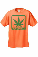 MEN'S FUNNY T-SHIRT Vegetarian MARIJUANA WEED POT SMOKING LEAF GRASS TEE  S-5XL