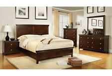 New Bedroom Set in Brown Cherry / Espresso 5pc Bedroom Furniture CM7113