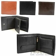 Men's Soft Leather Wallet with Multiple Card Slots and Pockets (3 Colours)