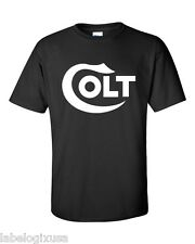 COLT FIREARMS - BLACK T-SHIRT NEW ALL SIZES AVAILABLE SMALL through 6XL