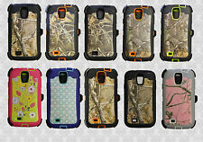 Samsung galaxy S4 Camo Defender Case w/Build in Screen Protector&Belt hold Clip