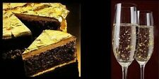 100% Pure 24k Gold Leaf Edible 32mm Sheets Cakes Champagne Crafts - NOT on BASE!