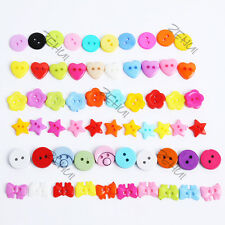 100pcs Buttons Lots Style Lots Color Sewing DIY Craft Decor Clothing Accessories