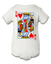 King of Hearts Poker Cards Infant Baby Newborn Onesie Creeper Crawler Bodysuit