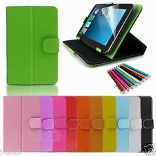 "Leather Case+Gift For 7"" Alcatel ONE TOUCH EVO7/7HD/Tab 7/Pop7/7S Tablet GB2"
