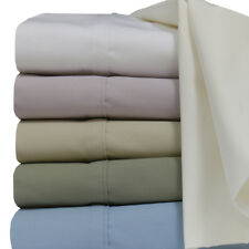 Soothing & Super Soft Solid Percale Sheets, 100% Cotton Deep Pocket Sheets Set