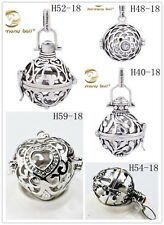 Silver Chime Sounds Harmony Ball Mexican Bola Angel Caller Locket Pendant baby