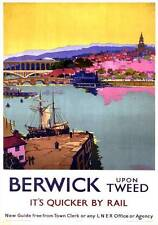 Berwick upon Tweed, Northumberland. LNER Vintage Travel Poster by Frank H Mason
