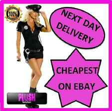 Ladies Police Fancy Dress Halloween Costume Sexy Cop Outfit Woman S M L XL Size