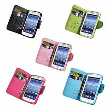 Wallet Card Leather Case with TPU inner Cover For Samsung Galaxy S Duos , S7562