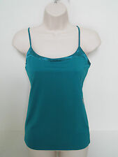 BANANA REPUBLIC Women's Emerald Green Satin Trim Stretch Cami S,M,L NWT