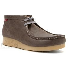 Clarks Stinson Hi Men's Wallabee Style Waxy Leather Casual Shoes 63367 Grey