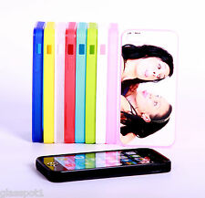 PERSONALISED CUSTOM PHOTO & TEXT case cover for iPhone 5S Silicone Soft Rubber