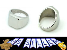 Men's High Polished Signet Solid 316L Stainless Steel Ring