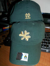 Notre Dame Fighting Irish NCAA Gold Clover Green Franchise Hat Cap University IN