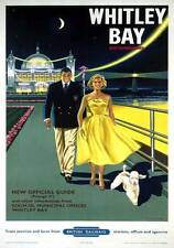 Whitley Bay, Spanish City, Northumberland. BR Vintage Travel poster by B Davies