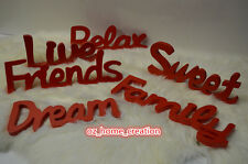 Nice gifts Cute Adorable Home Deco Wooden Word Dream|Friends|Sweet|Relax