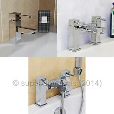 Eros Basin Mixer Bath Shower Mixer Bath Filler Bathroom Cloakroom Chrome Taps
