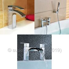 Pluto Basin Mixer Bath Shower Mixer Bath Filler Bathroom Cloakroom Chrome Taps