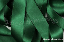 Hunter Green Satin Ribbon Double Sided Berisfords Choice Widths & Lengths  3501