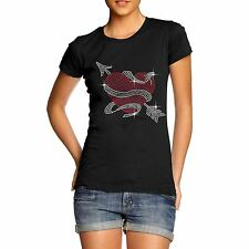 Women's Rhinestone Heart Arrow Diamante T Shirt