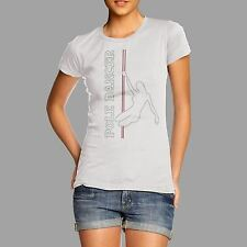 Women's Rhinestone Pole Dancer Diamante T Shirt