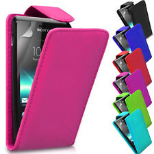 PU Leather Magnetic Flip Stand Case Cover Holder For Sony Xperia E C1505 C1605