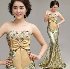 New Fashion Formal Wedding Prom Party Bridesmaid Evening Ball Gown Dress /LF135